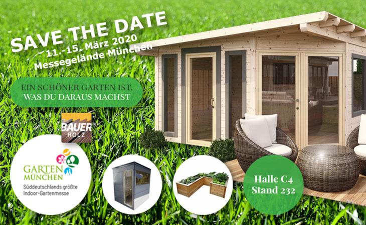 Bauer Holz stellt aus - Gartenmesse München 2020