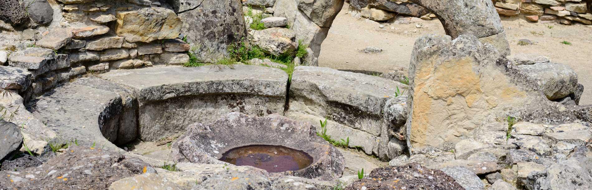 """Bild einer """"Sauna"""" aus der Antike"""