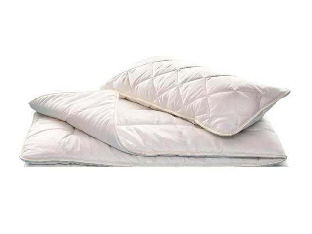 Decke und Kissen Set - KBA Baumwolle & Zirbe