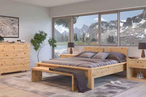 Kinderbett Junior aus Zirbenholz