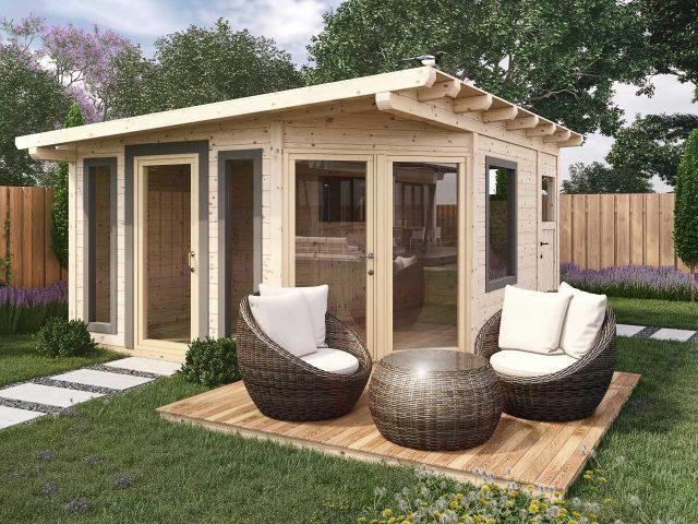 Gartenhaus aus Lärchenholz