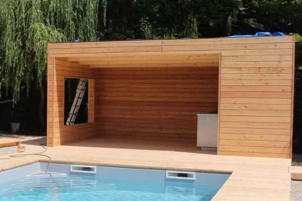 Unser Gartenhaus können Sie auch als Gartenhütte für Ihren Pool planen