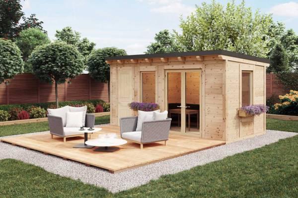 Das Gartenhaus aus Holz als Ergänzung für Ihren Garten.