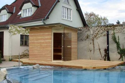 Die eigene Sauna am Pool - was gibt es schöneres