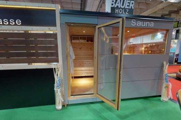 Ausstellungsstück im Abverkauf - Aussensauna von Bauer Holz