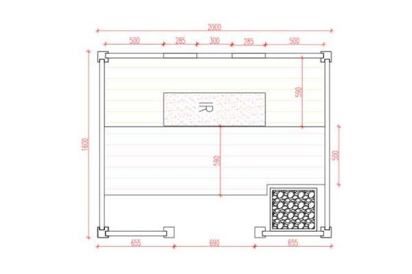 Sauna Megisto Grundrissplan