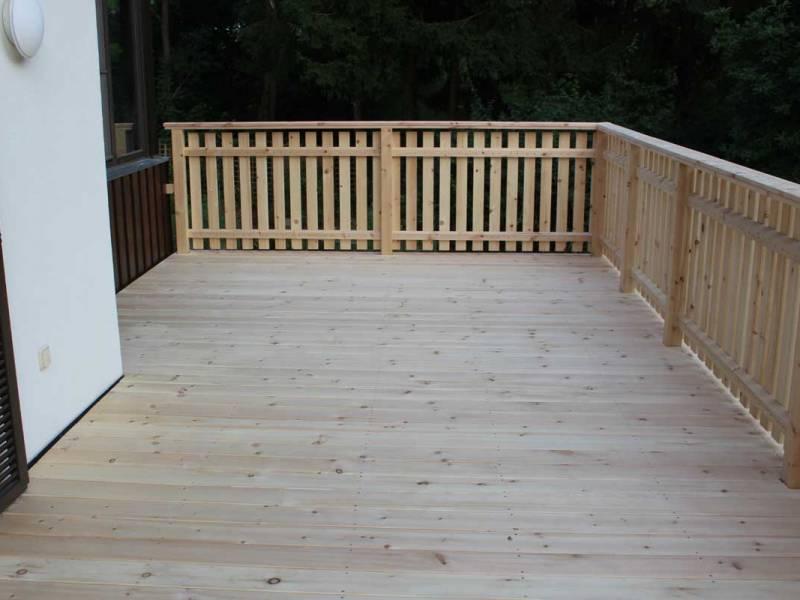 Terrasse - Dielen aus Zirbenholz