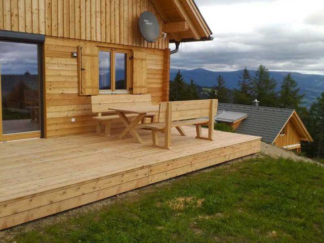 Terrassen aus Lärchenholz