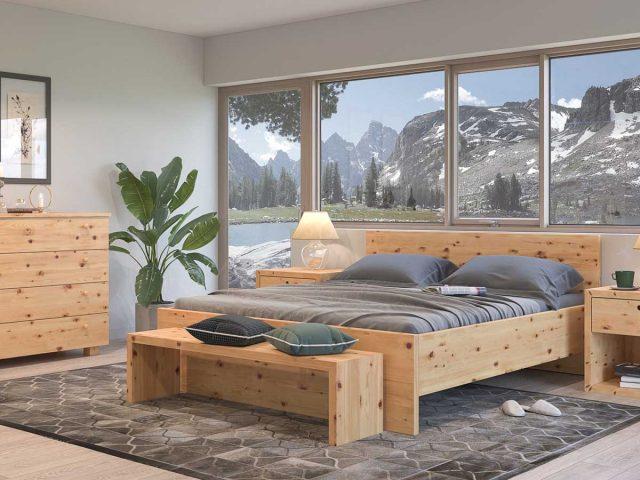 Bett Gaia aus Zirbenholz