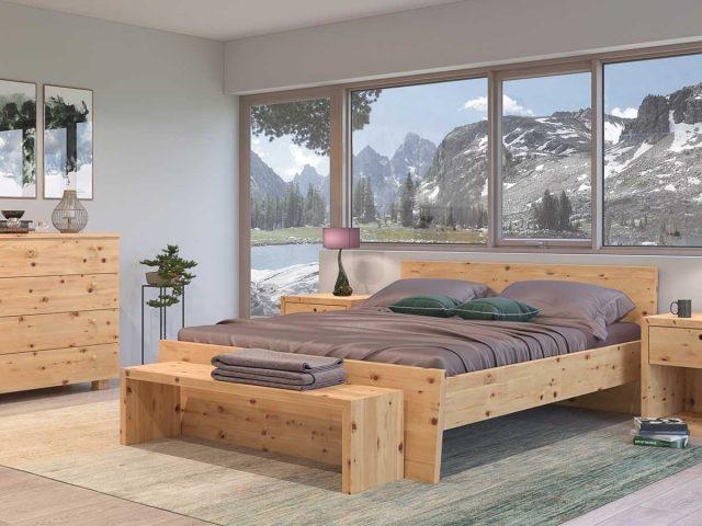 Bett Kali aus Zirbenholz