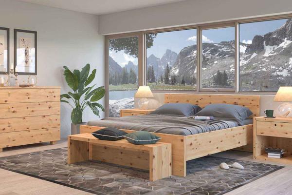 Betten aus Holz für Zuhaus - Zirbenbett Gaya