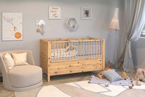 Gitterbett aus Zirbenholz - Gesunder Schlaf für unsere Kleinsten