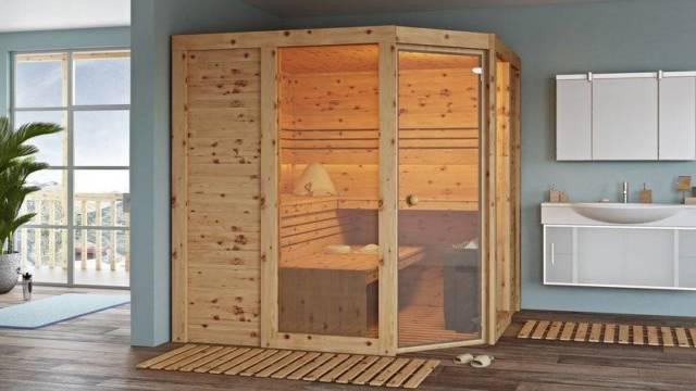 Finnische Sauna Apriori - Zirbensauna für Zuhause