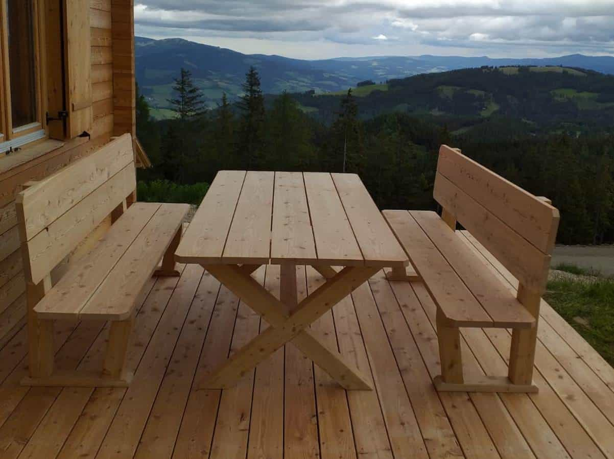 Gartenmöbel - Sitzgruppe aus massivem Lärchenholz