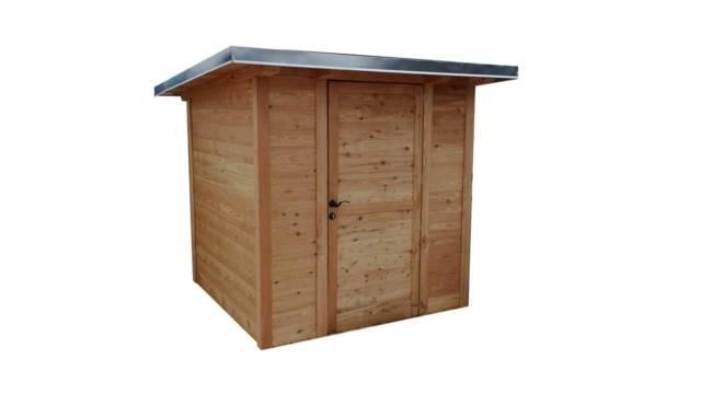 Das Gerätehaus Delphi können Sie auch auf Ihrer Terrasse einsetzen.