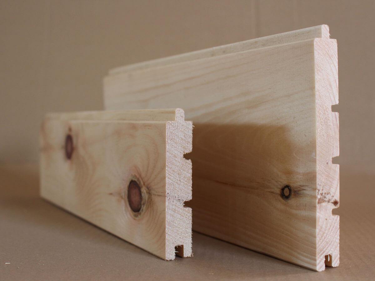 Zirbenholz gehobelt mit Nut und Feder