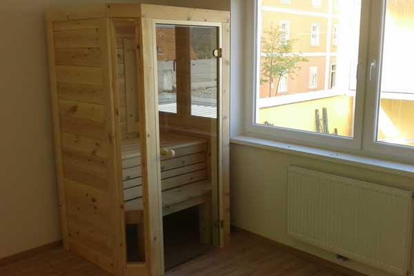 Unsere Mini Sauna für 2 Personen