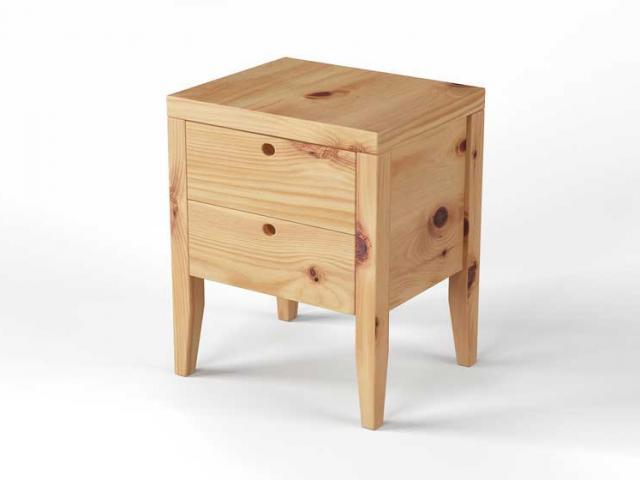 Nachttisch aus Zirbenholz - Modell Donna