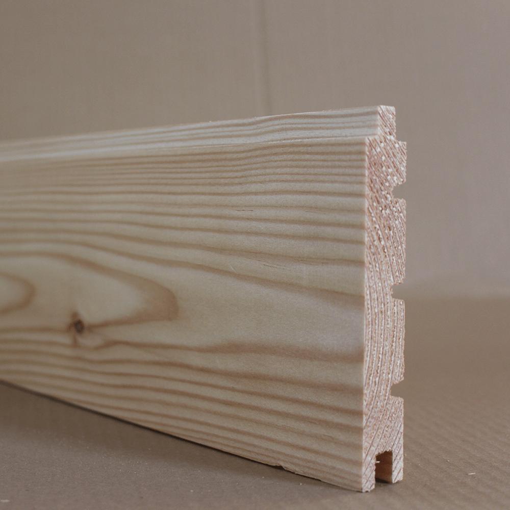 Schiffbodendiele 145x19mm aus Lärchenholz mit Nut und Feder
