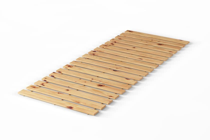 Rollbarer Lattenrost aus Zirbenholz