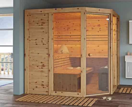 """Sauna """"Apriori"""" aus Zirbenholz"""