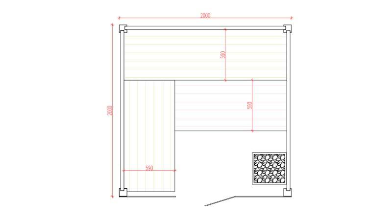 Sauna Arcadia Grundrissplan