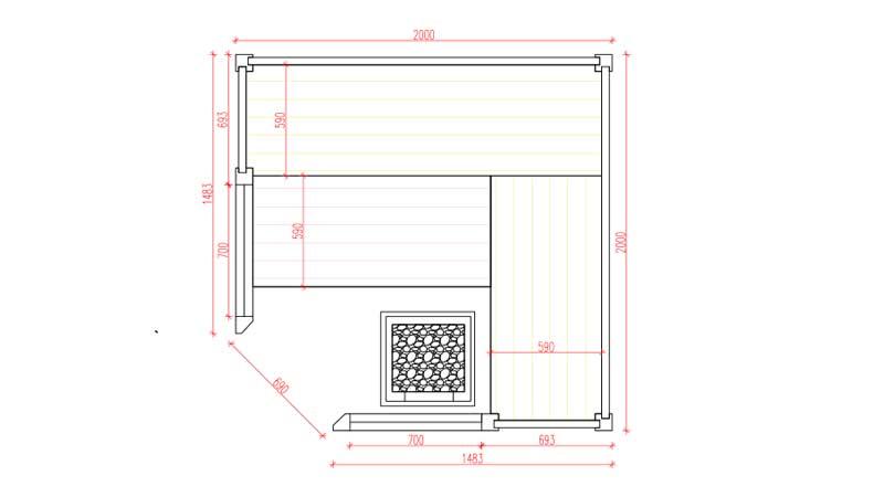Sauna Apriori Grundrissplan