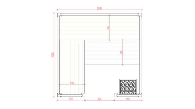 Sauna Hermes Grundrissplan