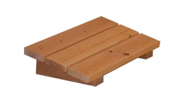 Sauna Kopfpolster aus Zirbenholz 1