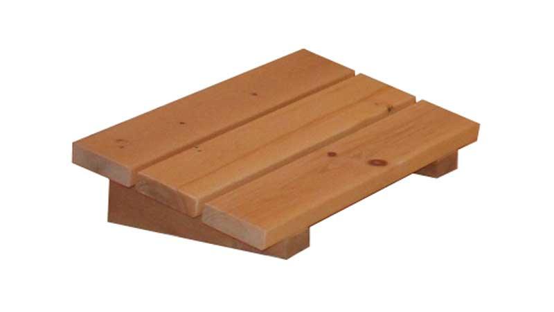 Sauna Kopfstütze aus Zirbenholz