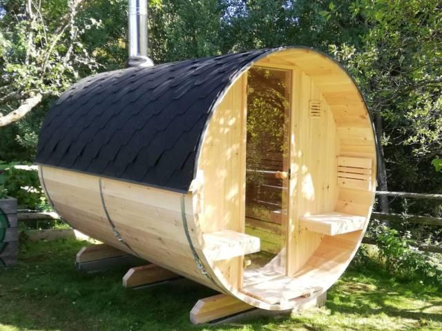 Saunafass Kundalini aus Zirbenholz