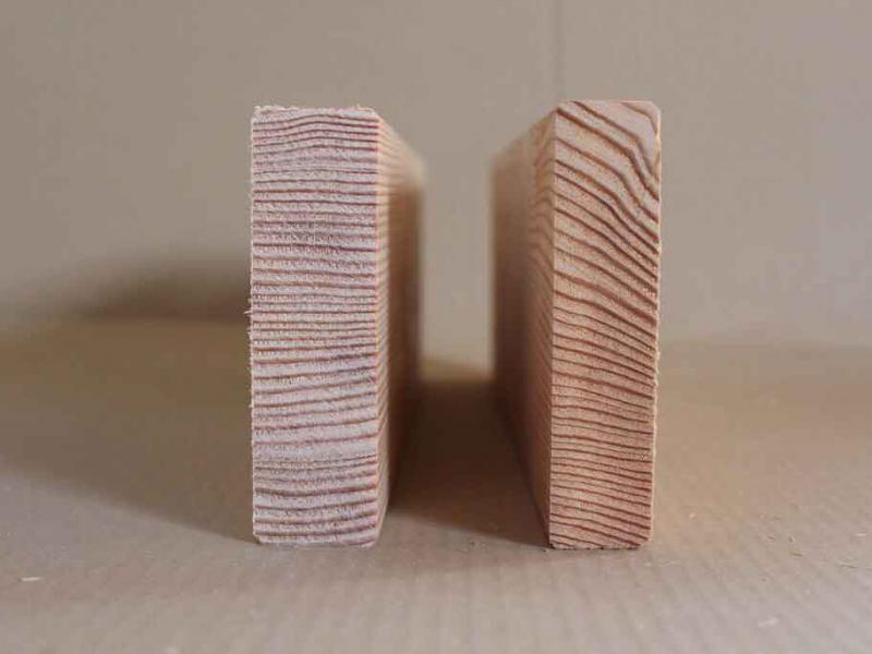 Terrassendielen aus Holz mit Riftschnitt