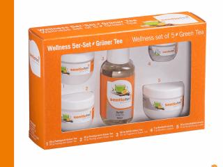Wellness-Set grünmer Tee